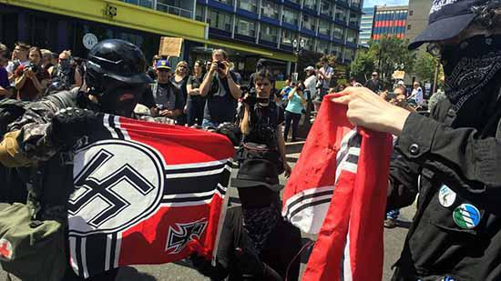 Street Clashes Between Far-Right And Anti-Fascist Groups