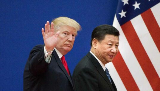 Putting 10% tariffs on Chinese goods by the U.S. since Sept. 1