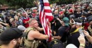 Violent clashes in Portland left six injured