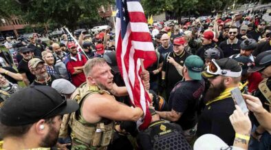 Violent clashes in Portland left six injured