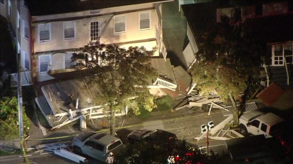 22 were injured in deck collapse Saturday evening in New Jersey