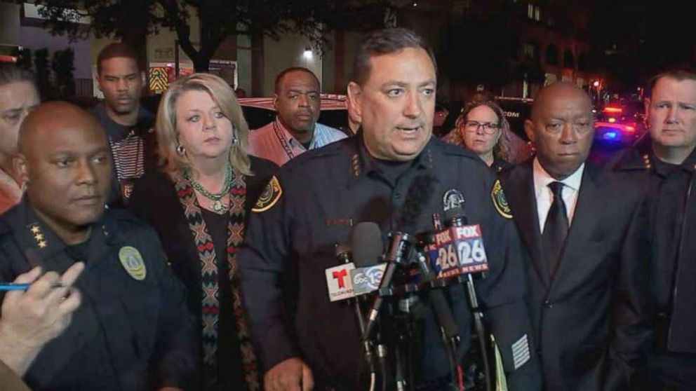 Acevedo chief executive of the city police department reaction to Houston police officer shot dead
