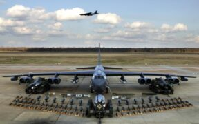 US Air Force fighters showed strength of US military in an elephant walk