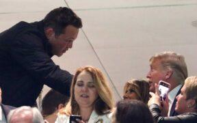 Vince Vaughn greeted Melania & Trump at National Championship game