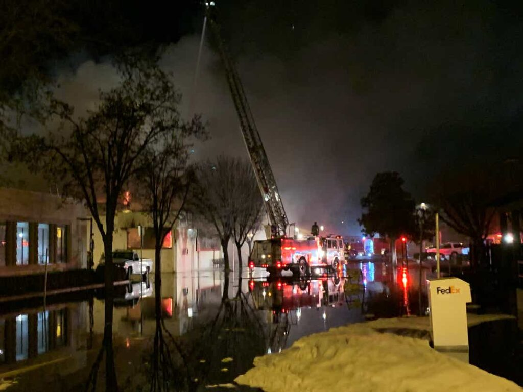One firefighter dead, another missing in blaze at California Library Fire