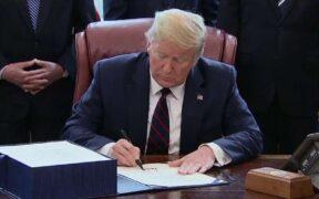 A $2 trillion Coronavirus aid bill was signed by Trump