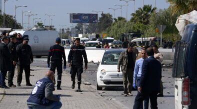 An attacker set off a explosion targeted the US embassy in Tunisia