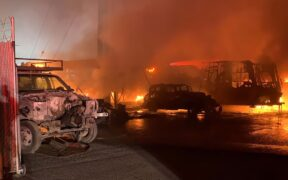 A second alarm broke out for a fire in San Jose, drive-in cinema Tuesday night, on May 19.