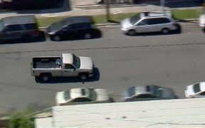 Los Angeles Car Chase: Police are involved in the Los Angeles car chase as a speeding pickup driver traveling the wrong way freeway.
