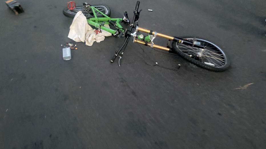 A speeding car hit a cyclist and pedestrians in Toluca Lake hit-and-run.