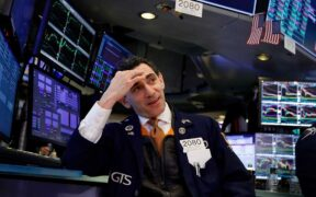 The US stock market futures fall following a gain of more than 3% last week.
