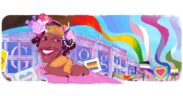 Google honors Marsha P. Johnson, the beloved trans-rights activist, with a doodle.