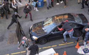 A Car hits protestors Seattle, Washington, strick two women.
