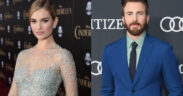 Captain America and Lily James were seen together in a London Hotel!