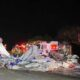 Rowan County trailer crash into several fire trucks.