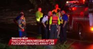 Flooding in North Carolina causes two children lost after their car was swept away in floodwaters Tuesday morning.