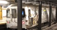 A subway train derailed in Manhattan
