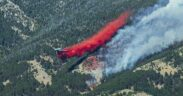The fire in Bozeman burns in the Bridger Mountains at 80 acres just before 7 p.m. Friday.