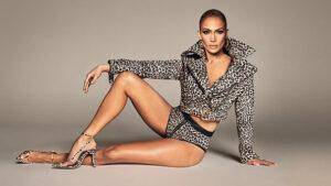 Jennifer Lopez struts around music video set in tiny thong