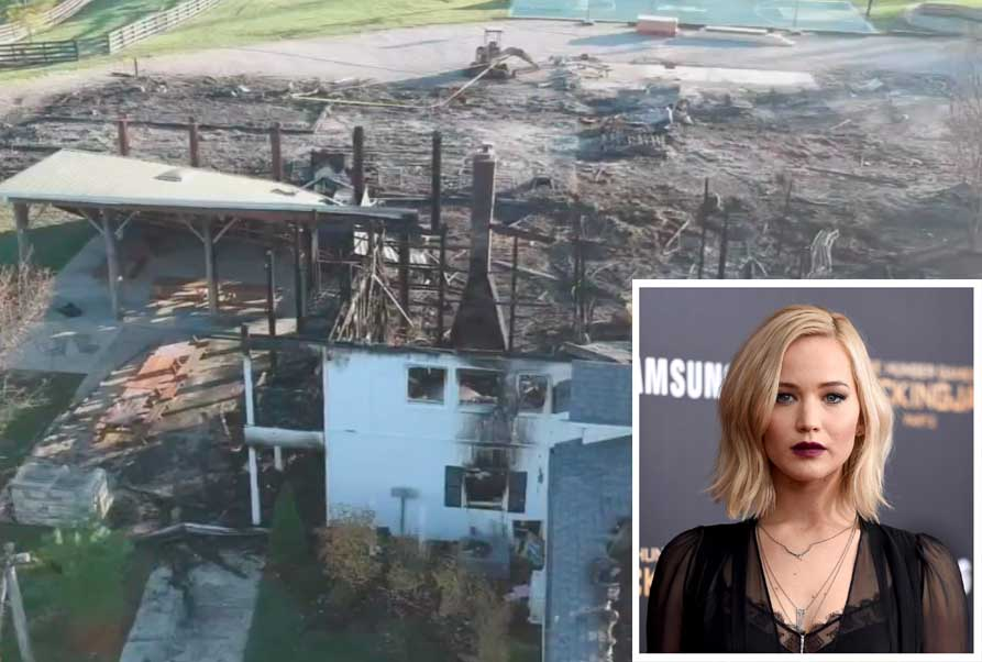 Jennifer Lawrence's Kentucky farm fire destroyed her family summer camp.