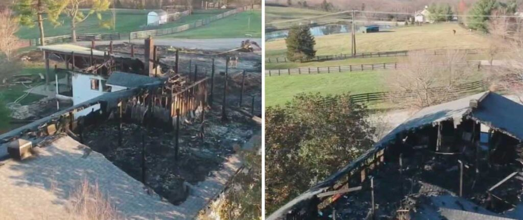Jennifer Lawrence's Kentucky farm fire destroyed her family summer camp on Friday.