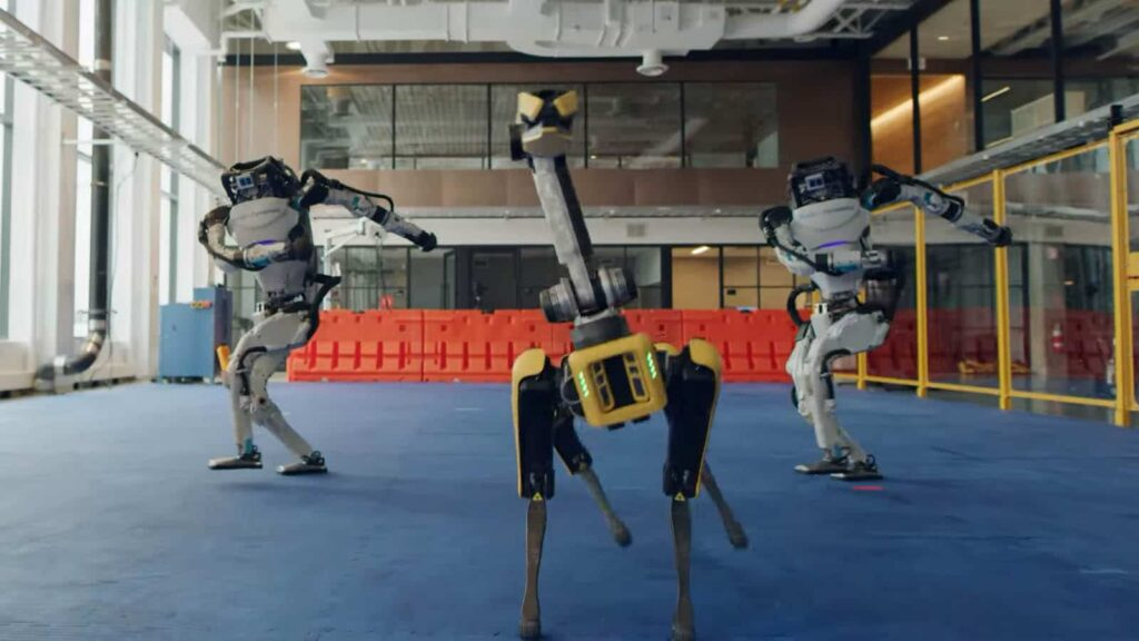 a scary and incredible video of Boston Dynamics' robots dance to 'Do You Love Me' for New Year was released