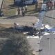 Grand Prairie plane crash with two passengers happened along the Texas 360 service road Monday afternoon