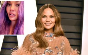 The 35-year-old American entertainer Chrissy Teigen's new purple hair surprised fans.