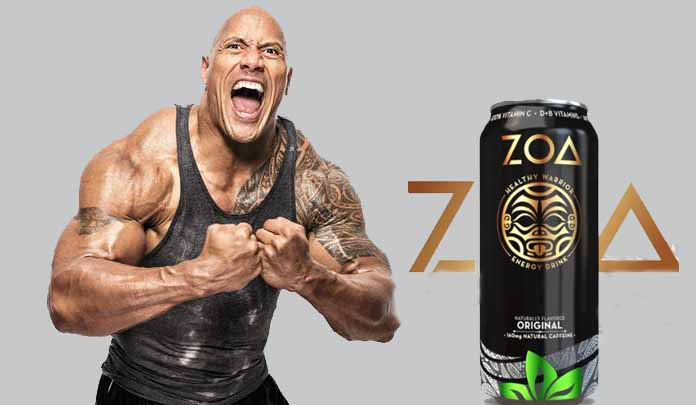 The Rock energy drink, ZOA 'Healthy Warrior' is on the market