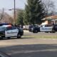A man in a Visalia bank robbery shooting was killed in the neighborhood.