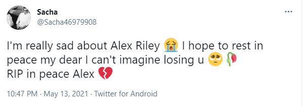 The adult industry performer Alex Riley's cause of death is unknown at this time