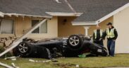 Police are investigating Simi Valley's car crash into a house on Bryant Drive Monday evening