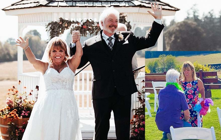 Chri Marek and Amy Roloff celebrated their marriage