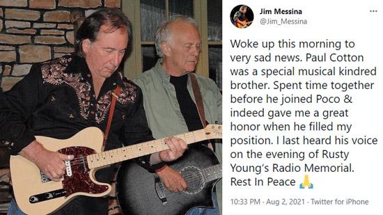 Former Poco Guitarist & Singer Paul Cotton's Cause of Death