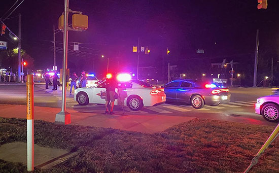 An Indianapolis police officer was seriously shot and wounded and two oth