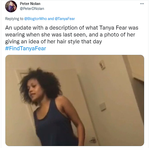The young actress Tanya Fear is missing in LA